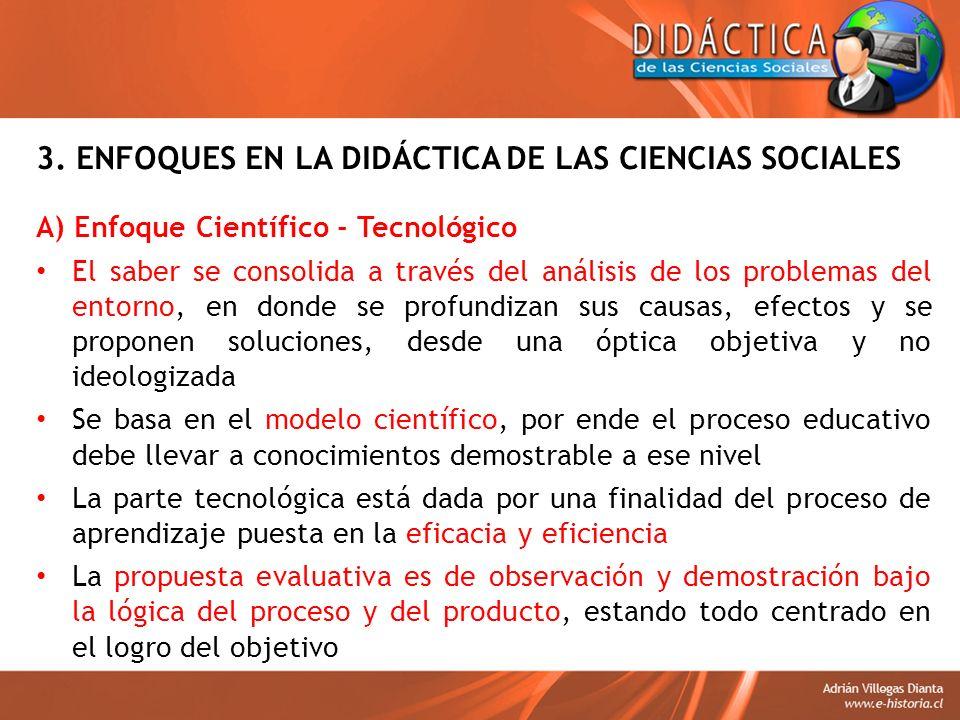 3. ENFOQUES EN LA DIDÁCTICA DE LAS CIENCIAS SOCIALES