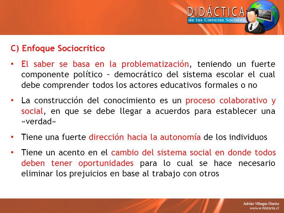 C) Enfoque Sociocrítico