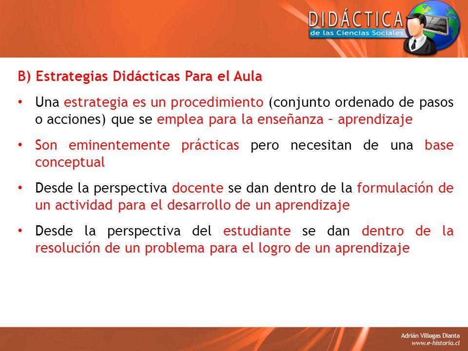 B) Estrategias Didácticas Para el Aula