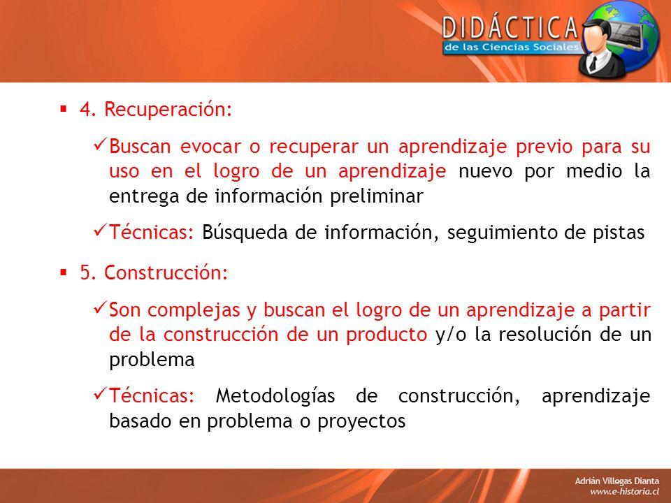 4. Recuperación: