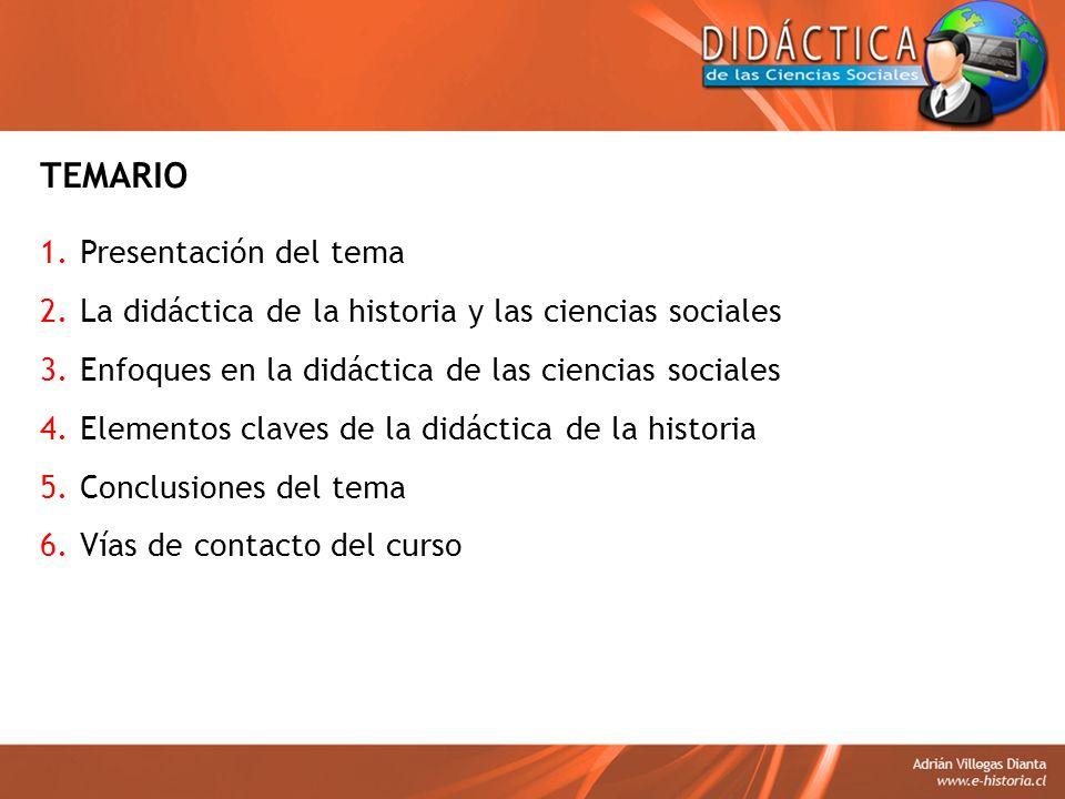 TEMARIO Presentación del tema