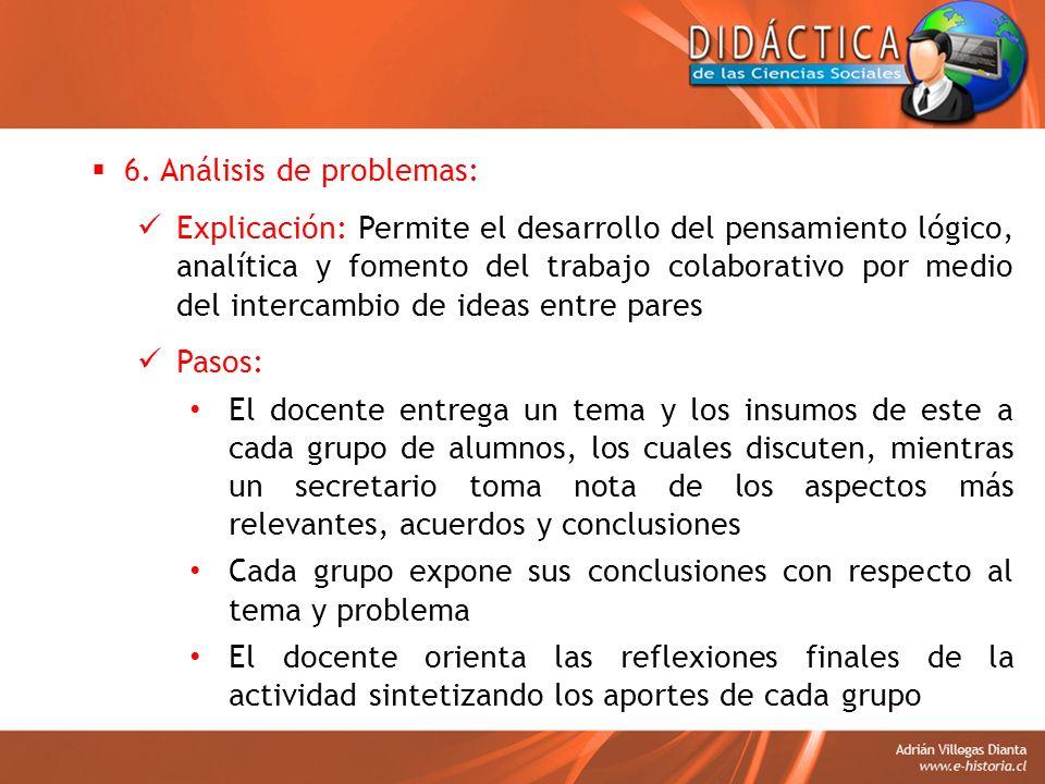 6. Análisis de problemas: