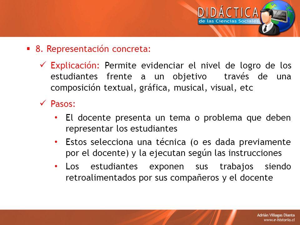 8. Representación concreta:
