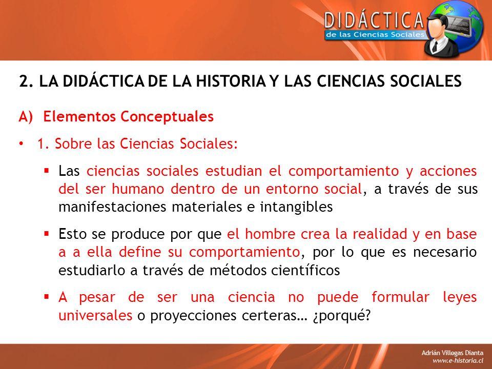 2. LA DIDÁCTICA DE LA HISTORIA Y LAS CIENCIAS SOCIALES