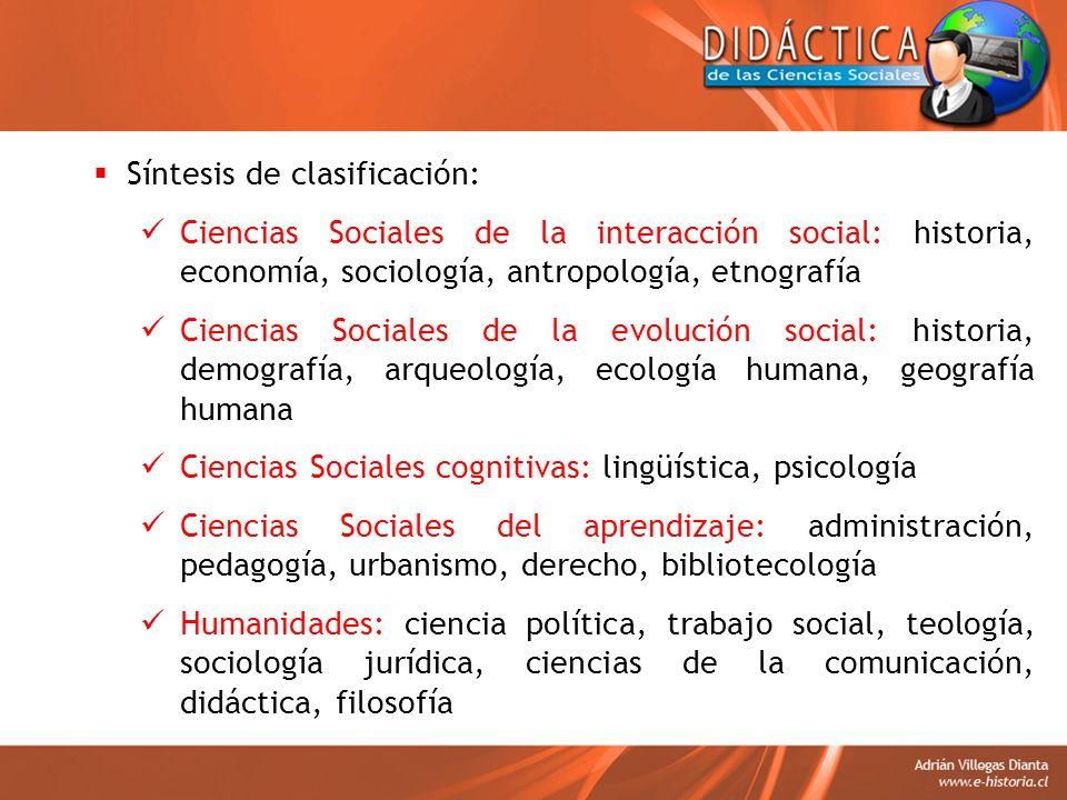 Síntesis de clasificación: