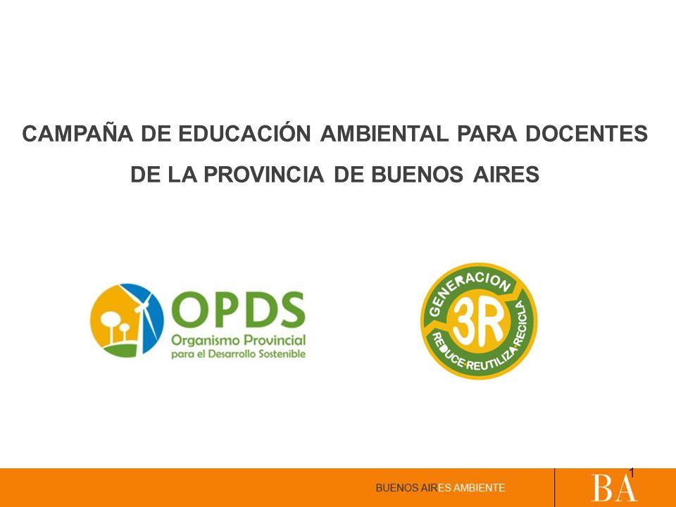 CAMPAÑA DE EDUCACIÓN AMBIENTAL PARA DOCENTES DE LA PROVINCIA DE BUENOS AIRES