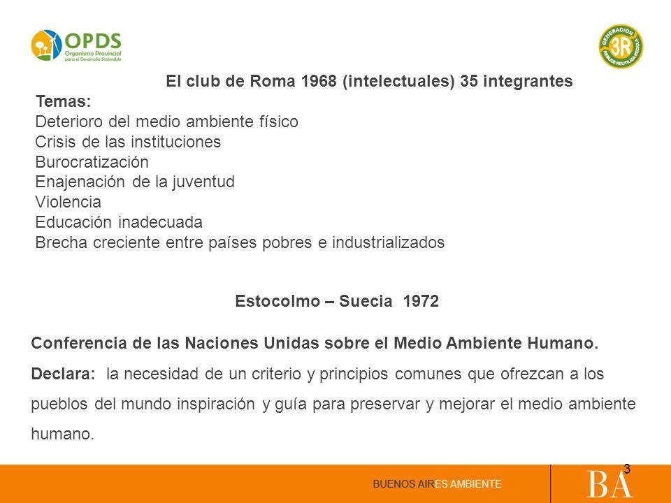 El club de Roma 1968 (intelectuales) 35 integrantes