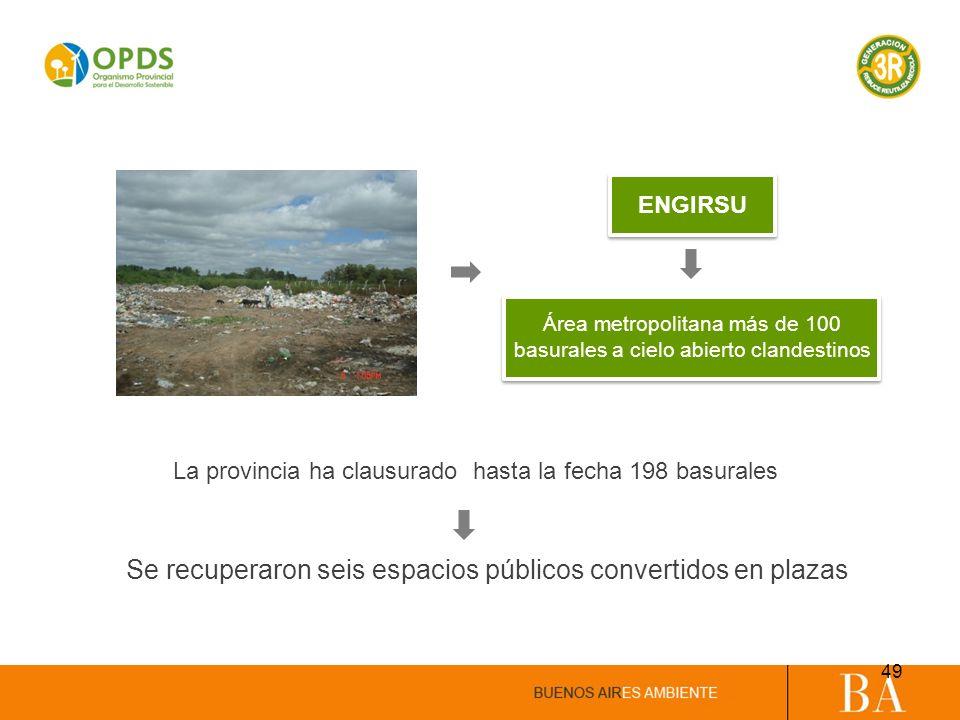 Se recuperaron seis espacios públicos convertidos en plazas
