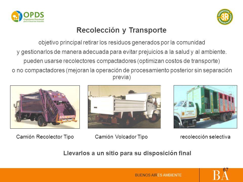 Recolección y Transporte