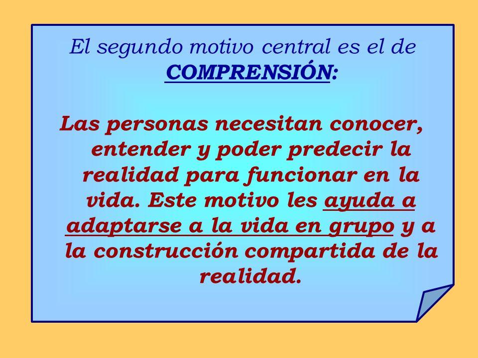 El segundo motivo central es el de COMPRENSIÓN: