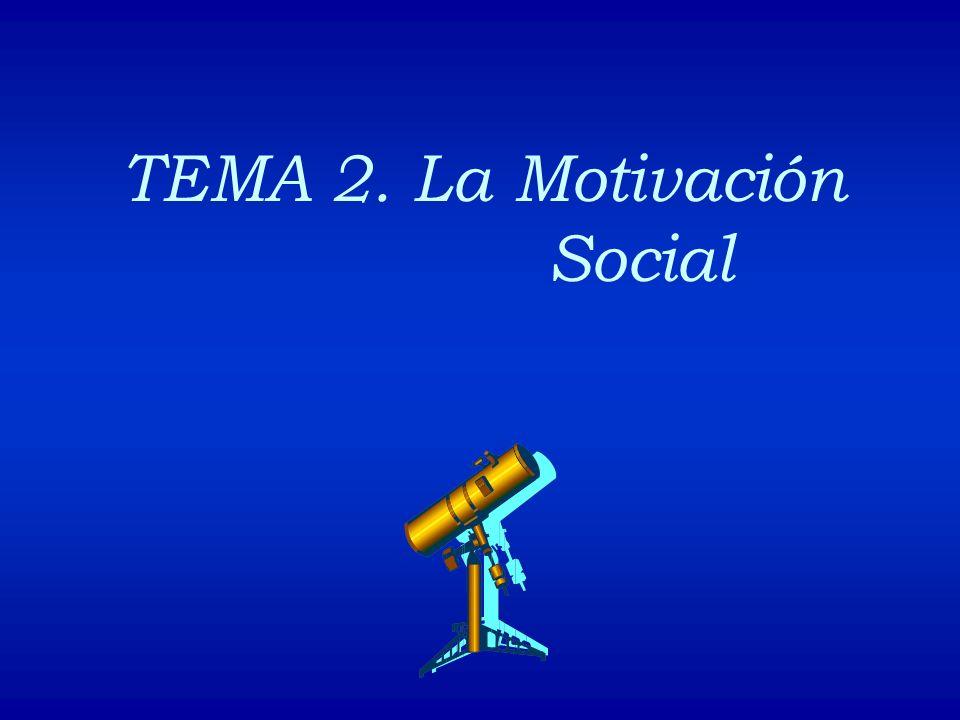 TEMA 2. La Motivación Social