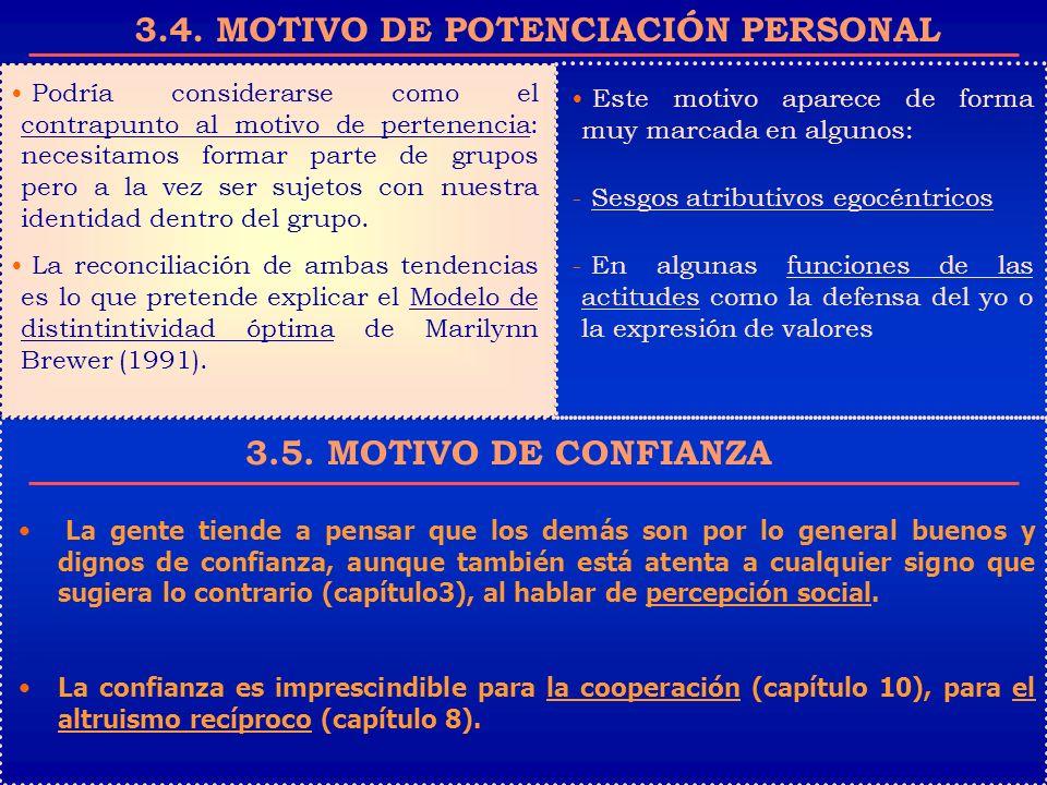 3.4. MOTIVO DE POTENCIACIÓN PERSONAL