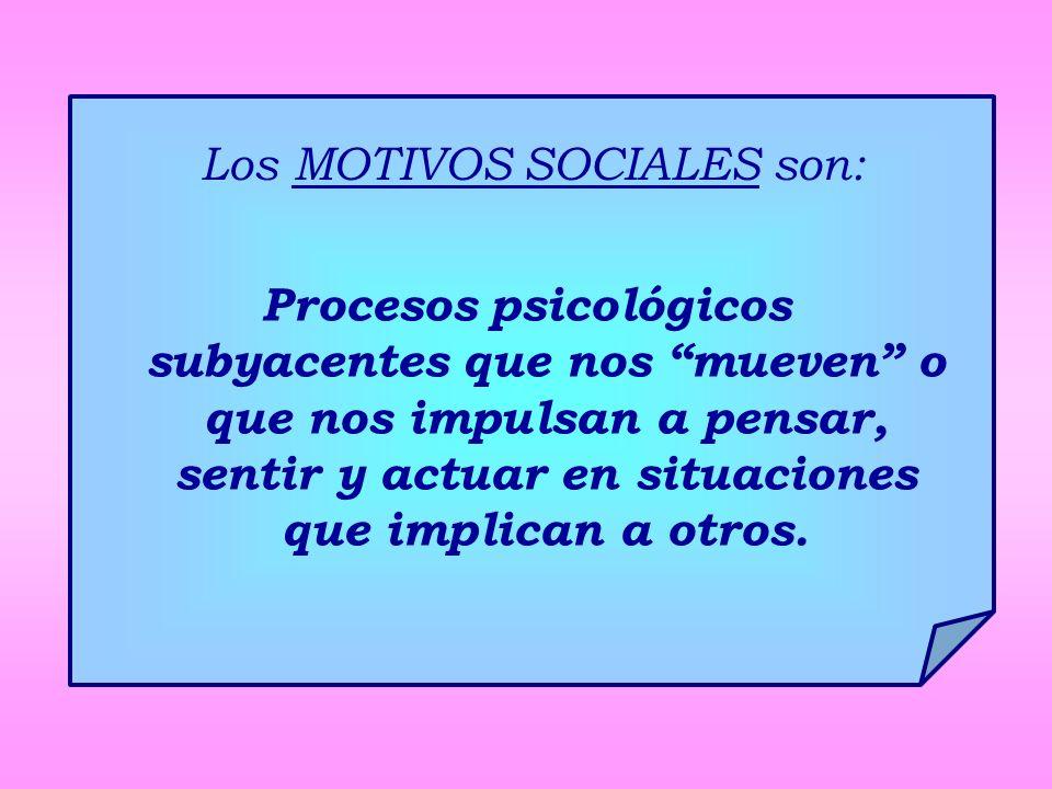 Los MOTIVOS SOCIALES son: