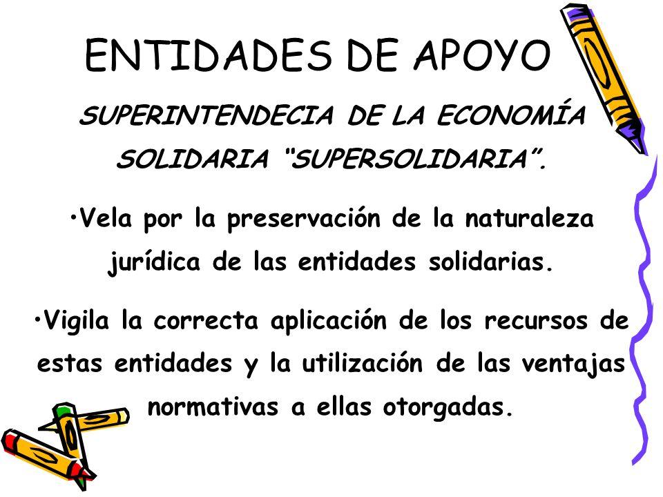 SUPERINTENDECIA DE LA ECONOMÍA SOLIDARIA SUPERSOLIDARIA .