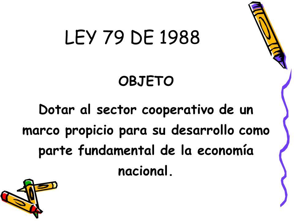 LEY 79 DE 1988 OBJETO.