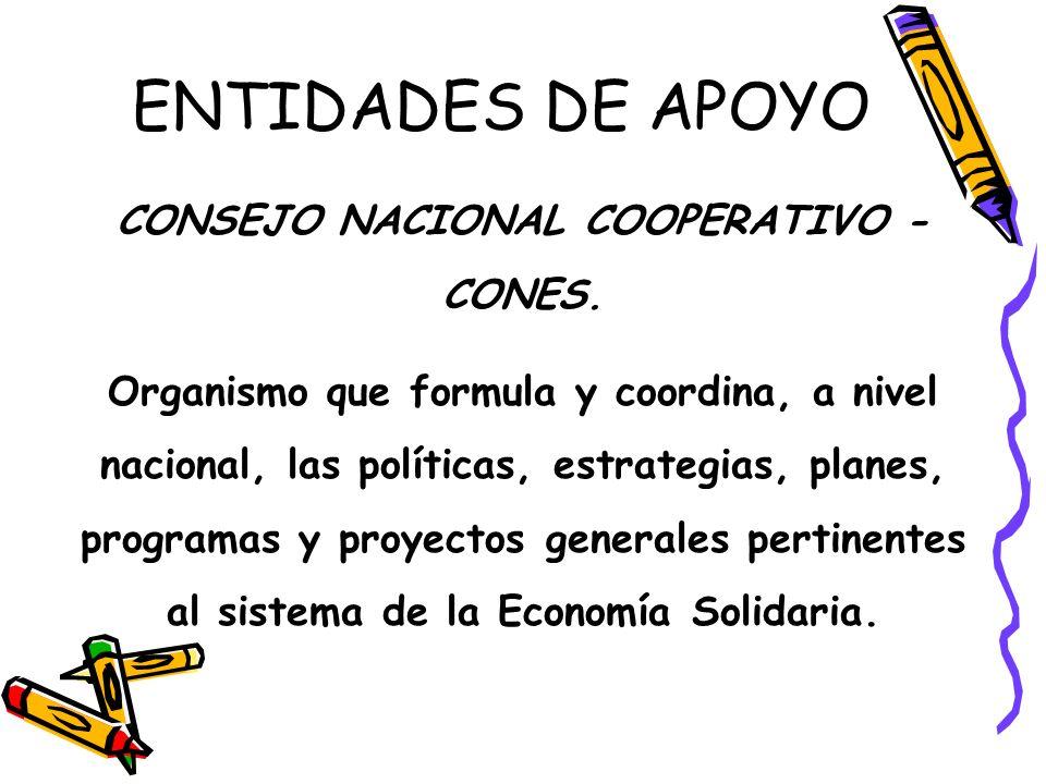CONSEJO NACIONAL COOPERATIVO - CONES.