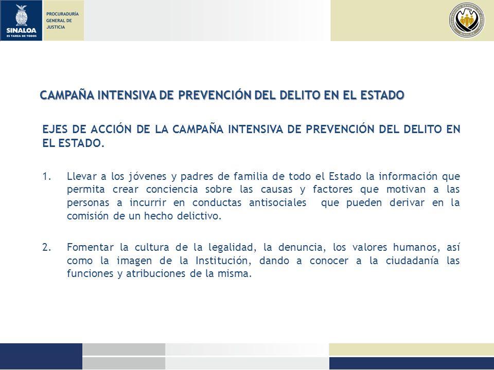 CAMPAÑA INTENSIVA DE PREVENCIÓN DEL DELITO EN EL ESTADO