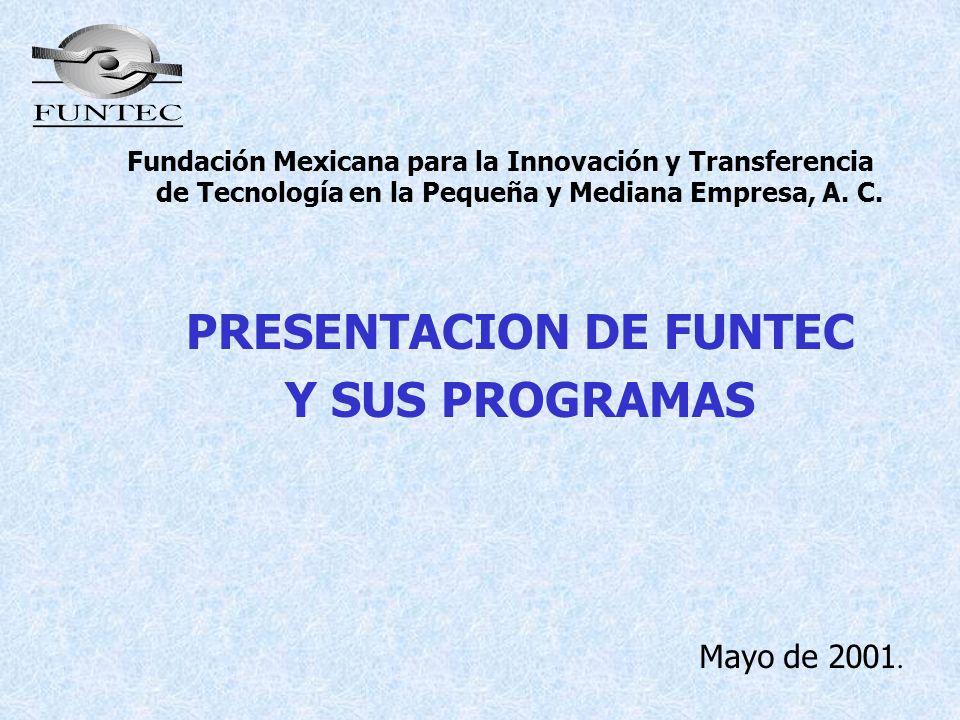 PRESENTACION DE FUNTEC Y SUS PROGRAMAS