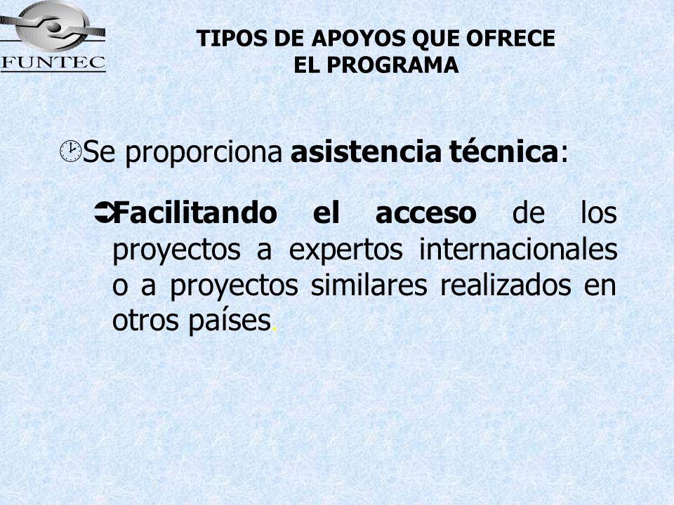 TIPOS DE APOYOS QUE OFRECE EL PROGRAMA