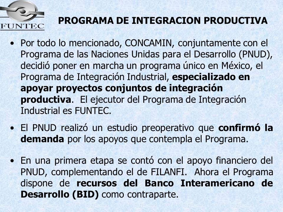 PROGRAMA DE INTEGRACION PRODUCTIVA