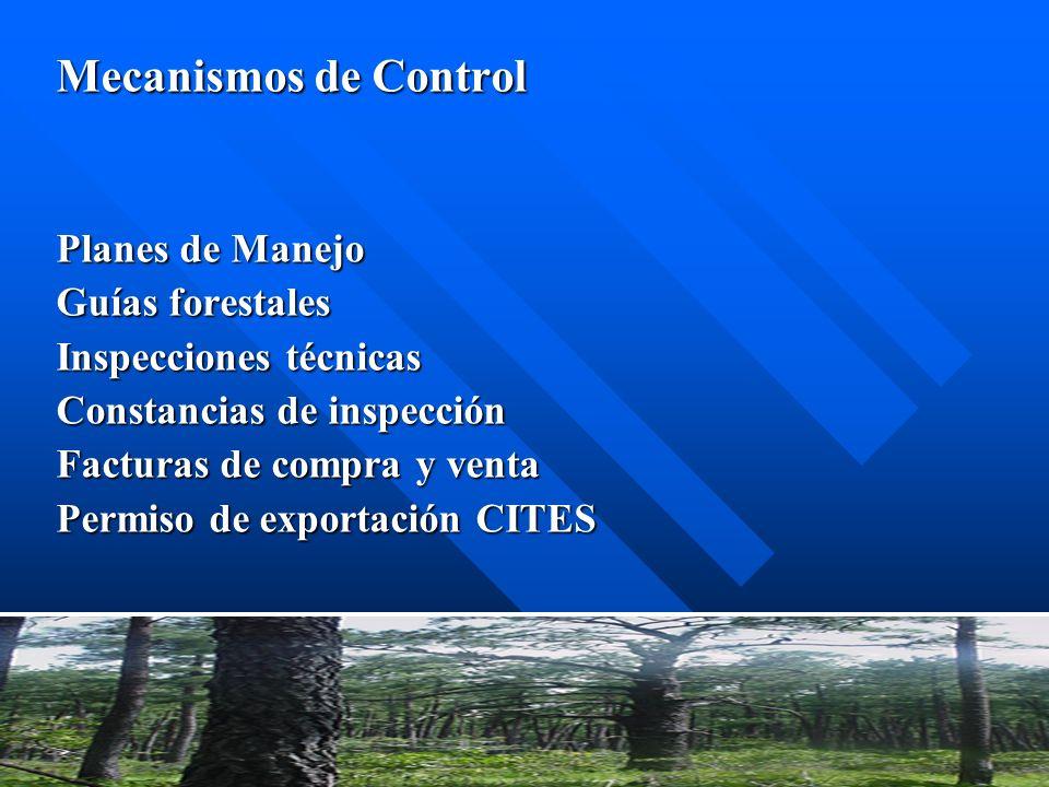 Mecanismos de Control Planes de Manejo Guías forestales