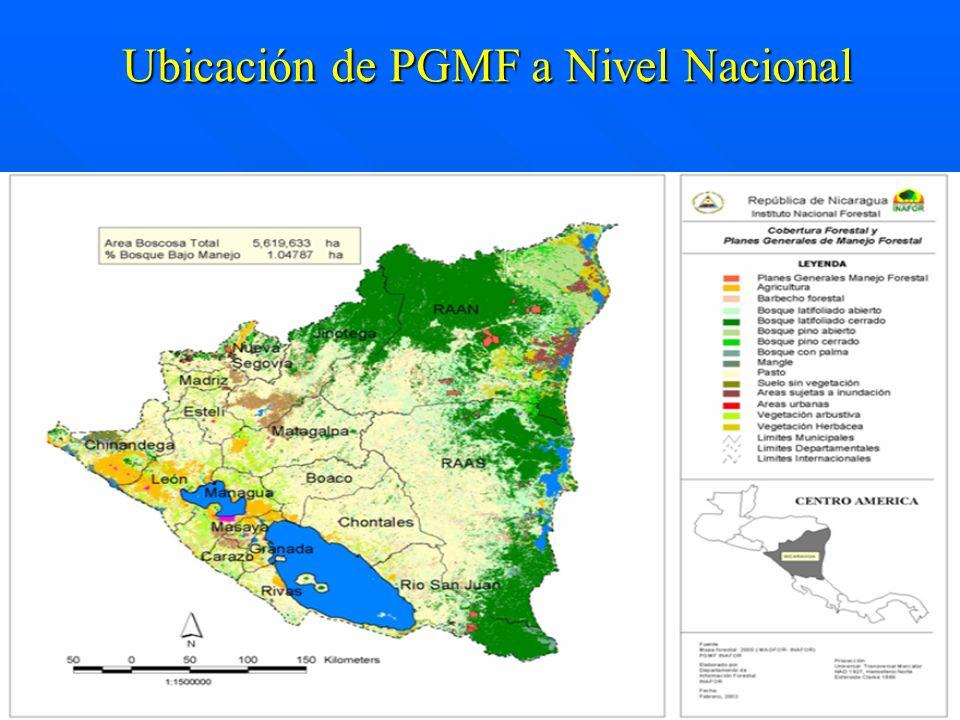 Ubicación de PGMF a Nivel Nacional