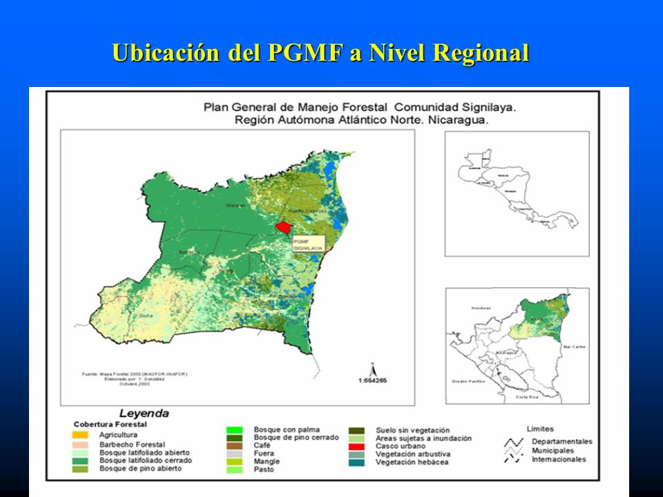Ubicación del PGMF a Nivel Regional