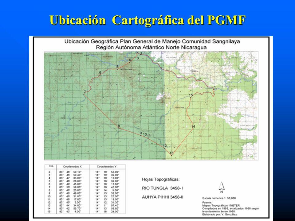Ubicación Cartográfica del PGMF