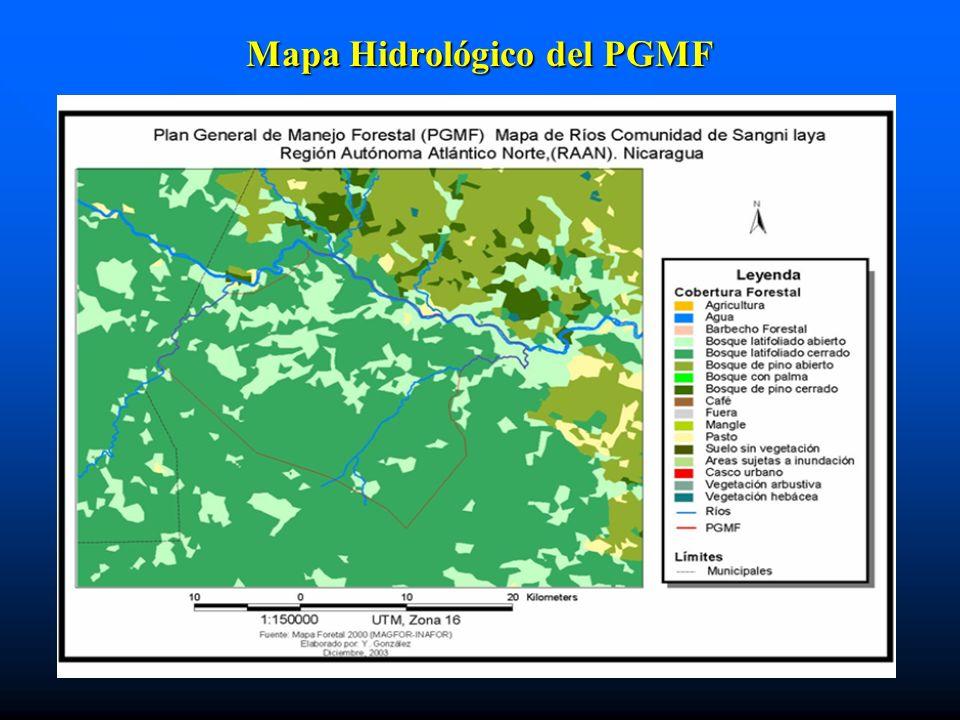 Mapa Hidrológico del PGMF