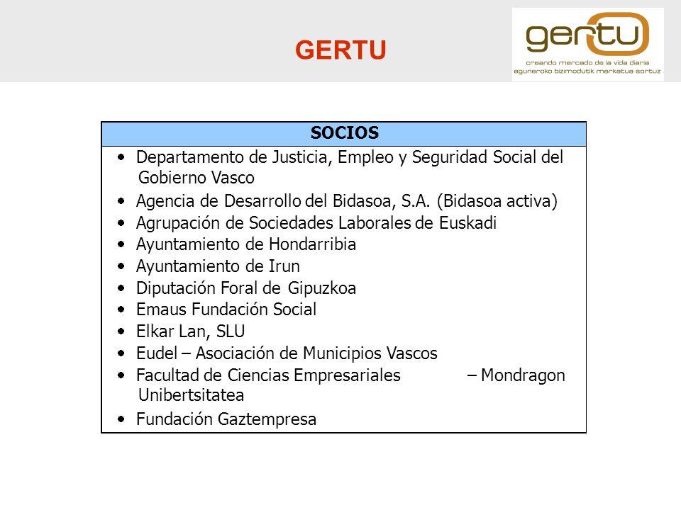 GERTU SOCIOS · Departamento de Justicia, Empleo y Seguridad Social del