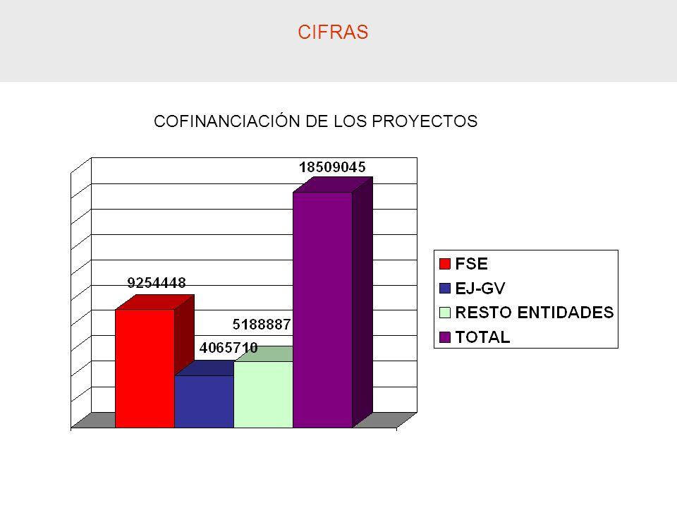 CIFRAS COFINANCIACIÓN DE LOS PROYECTOS