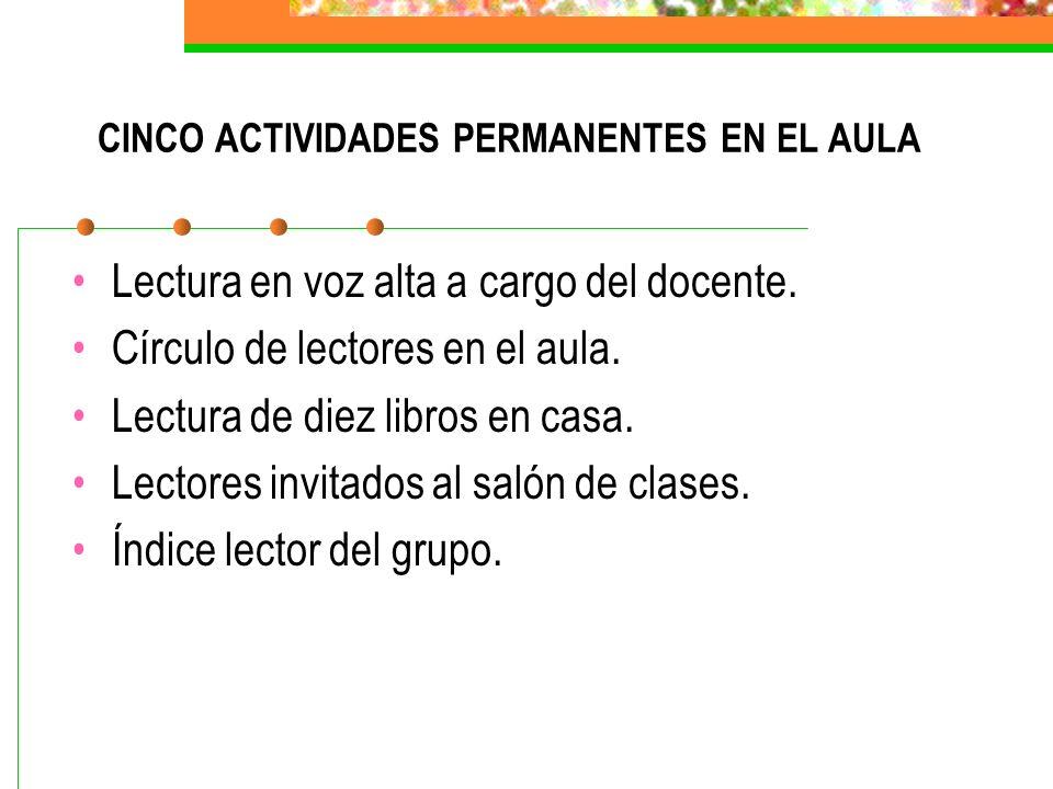 CINCO ACTIVIDADES PERMANENTES EN EL AULA