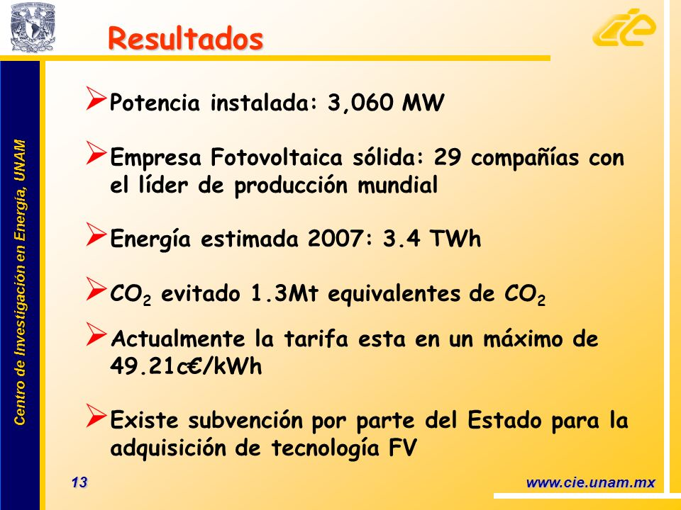 Potencia instalada: 3,060 MW