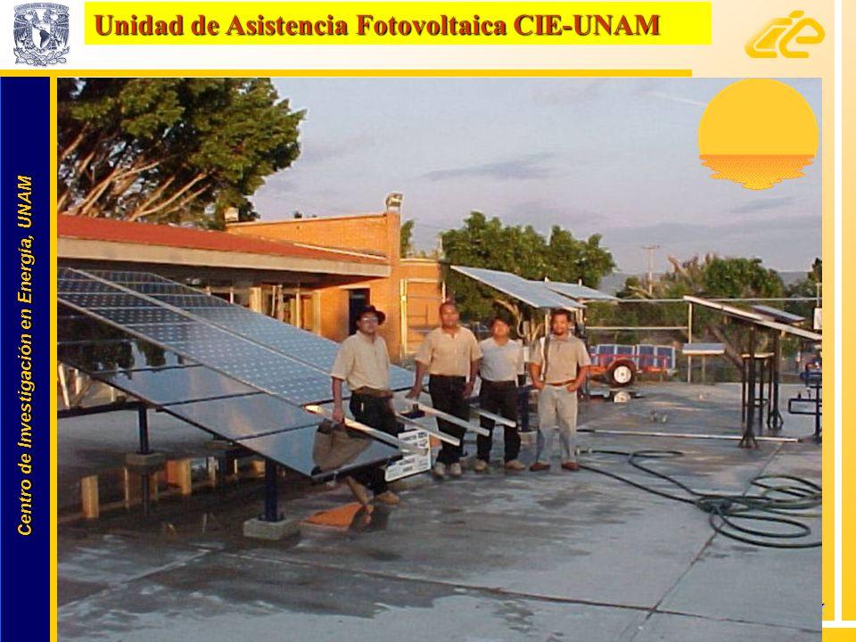 Unidad de Asistencia Fotovoltaica CIE-UNAM
