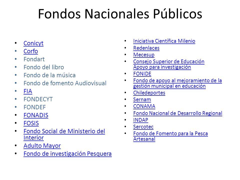 Fondos Nacionales Públicos