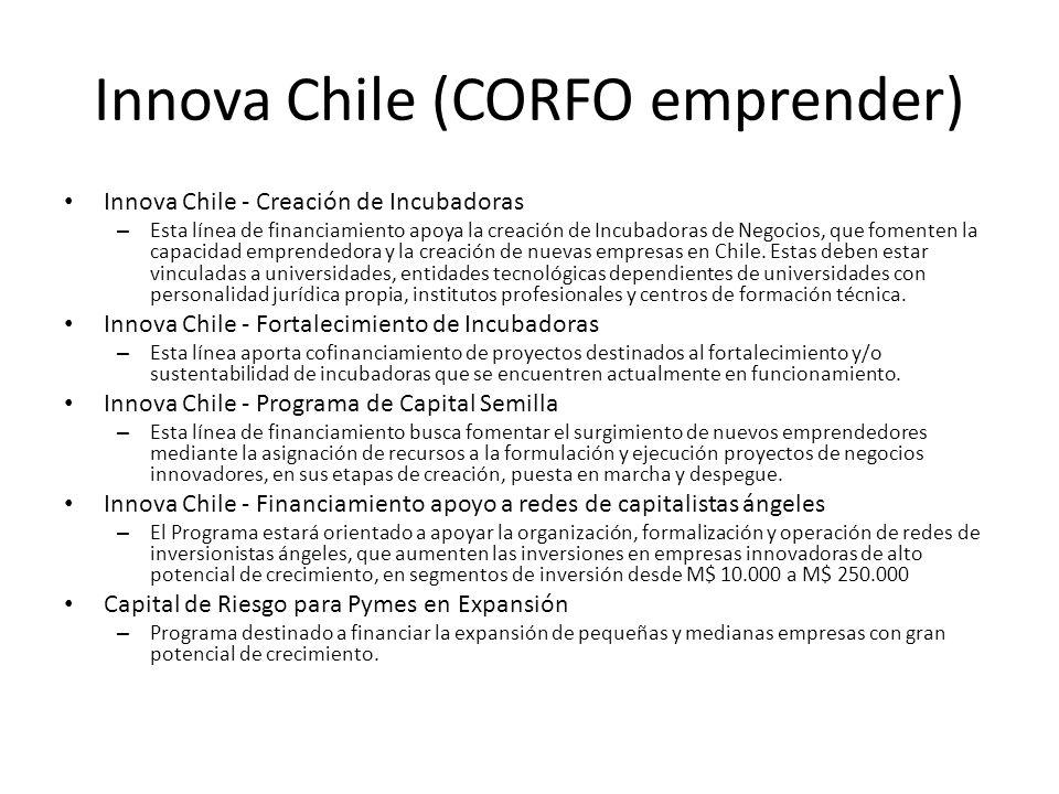 Innova Chile (CORFO emprender)
