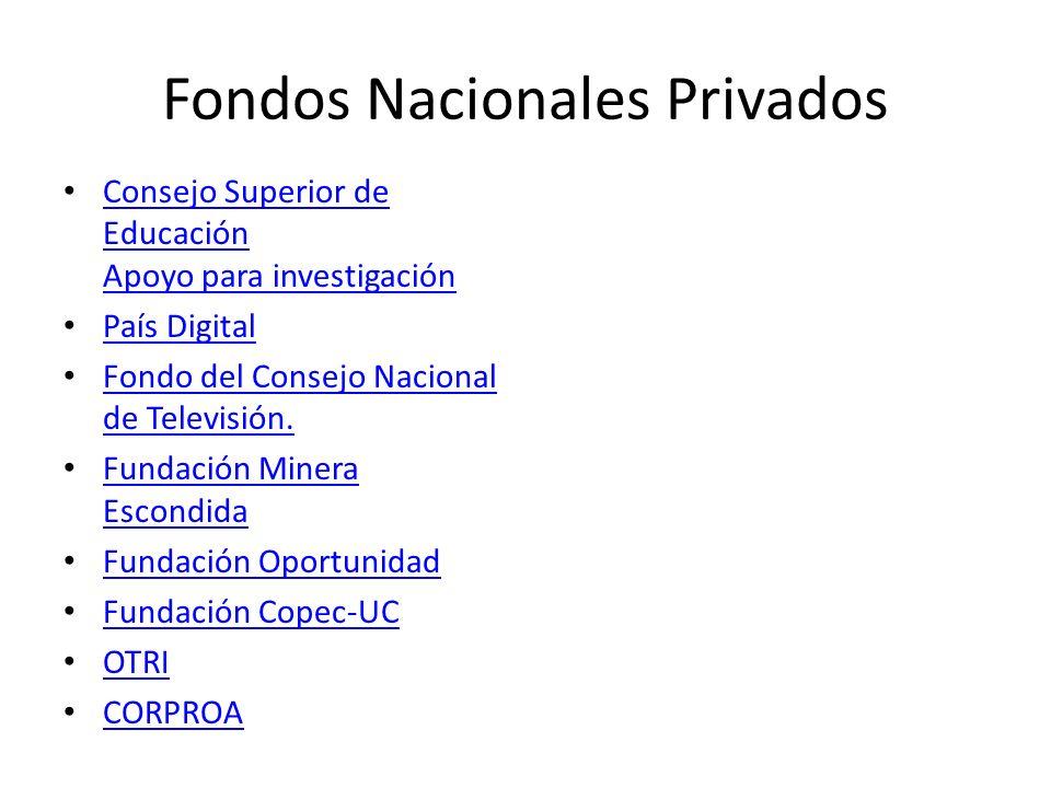Fondos Nacionales Privados