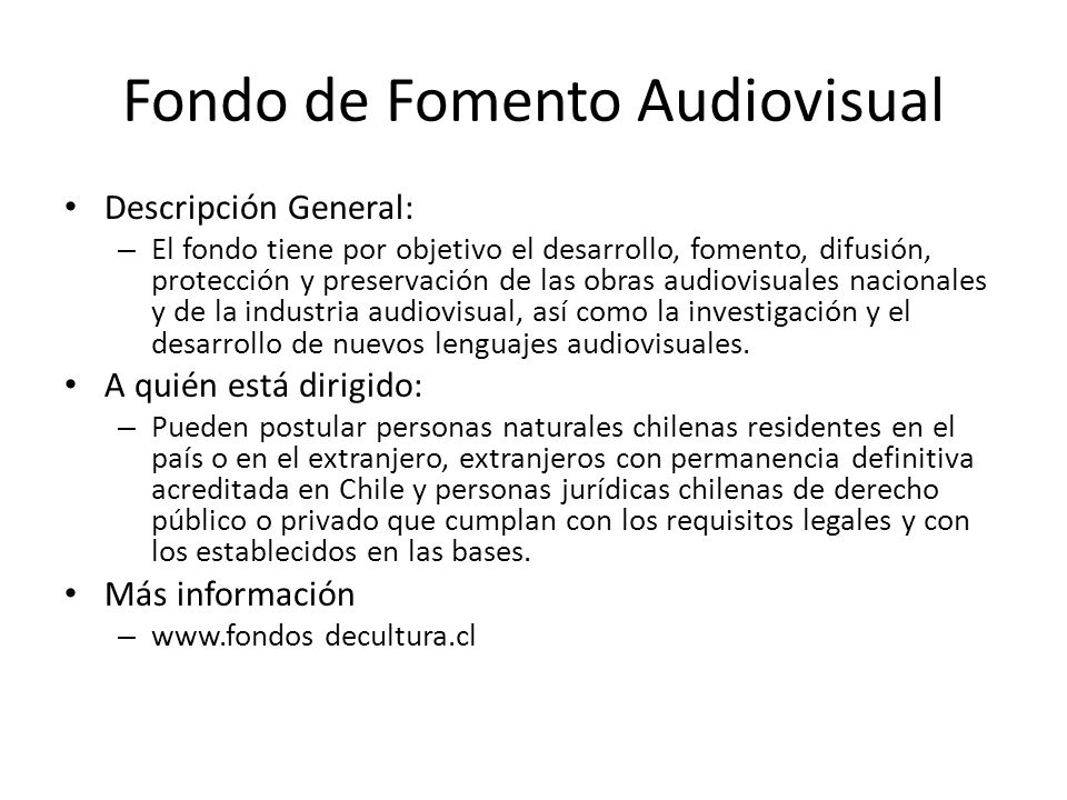 Fondo de Fomento Audiovisual