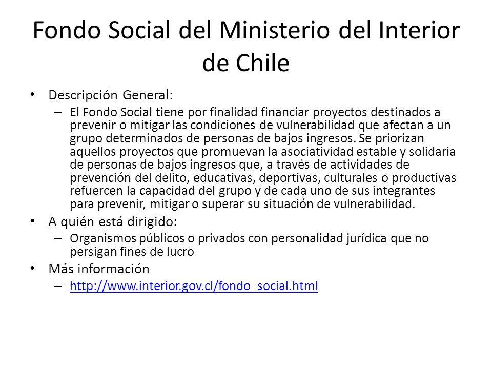 Fondo Social del Ministerio del Interior de Chile