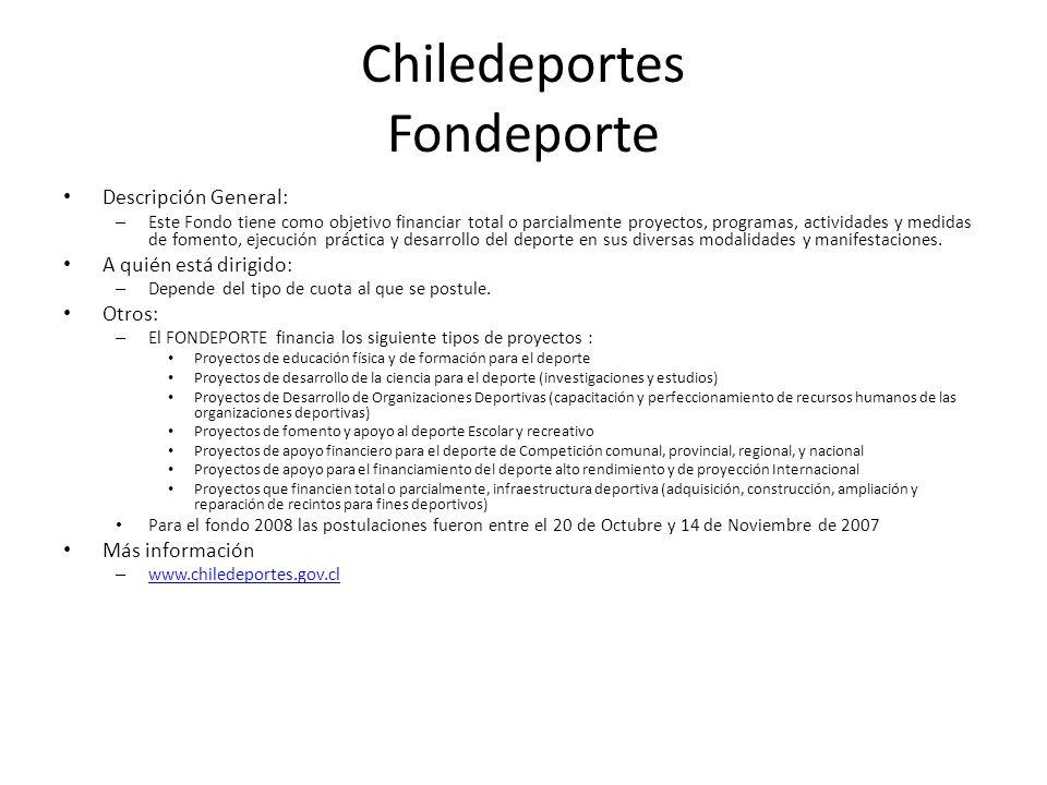 Chiledeportes Fondeporte