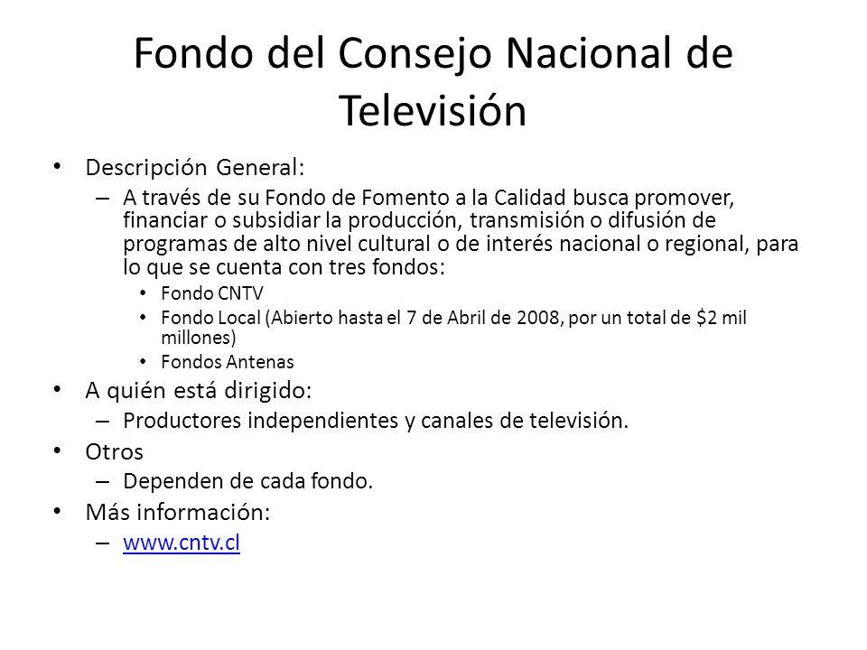 Fondo del Consejo Nacional de Televisión