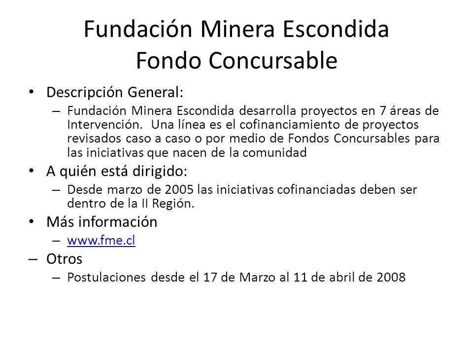 Fundación Minera Escondida Fondo Concursable
