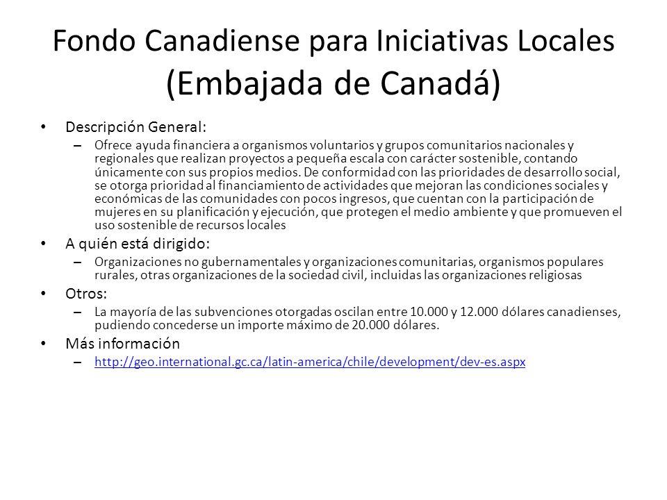 Fondo Canadiense para Iniciativas Locales (Embajada de Canadá)