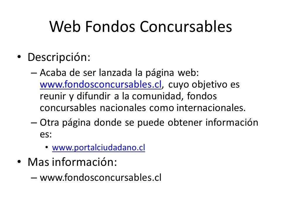 Web Fondos Concursables