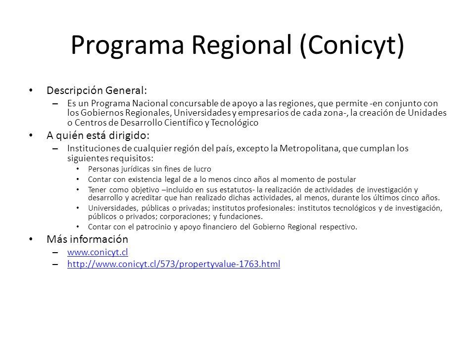 Programa Regional (Conicyt)