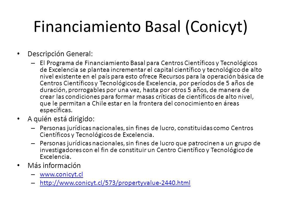 Financiamiento Basal (Conicyt)