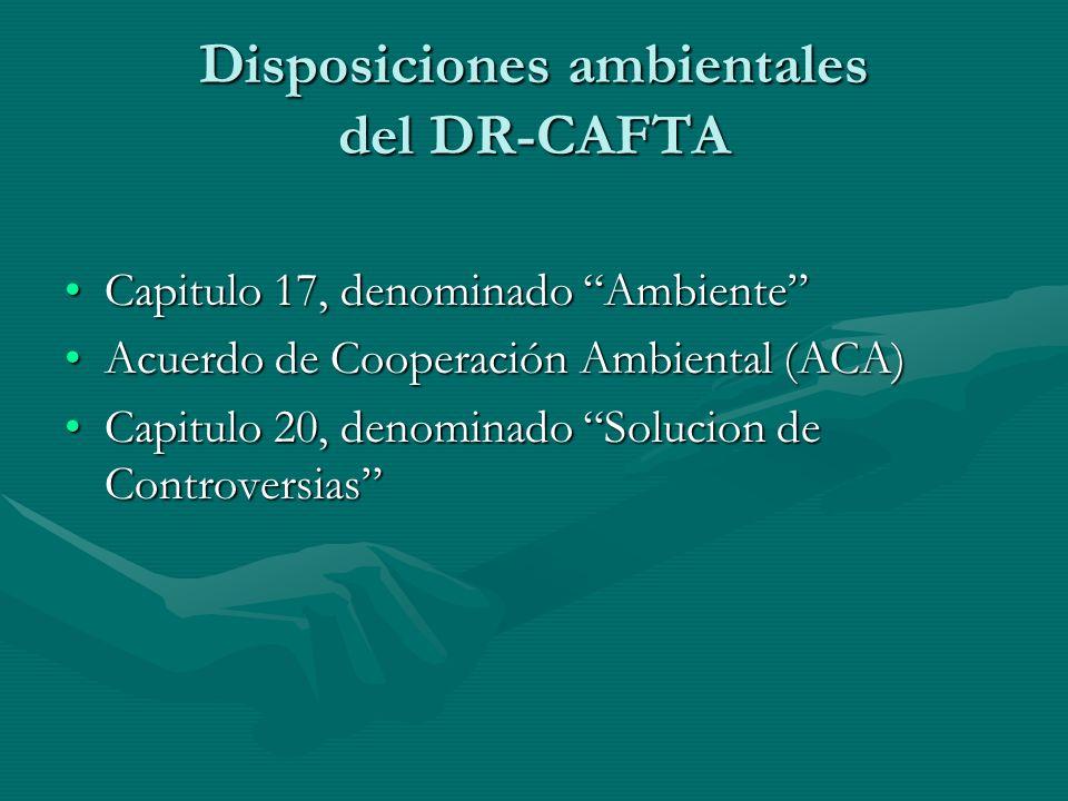 Disposiciones ambientales del DR-CAFTA