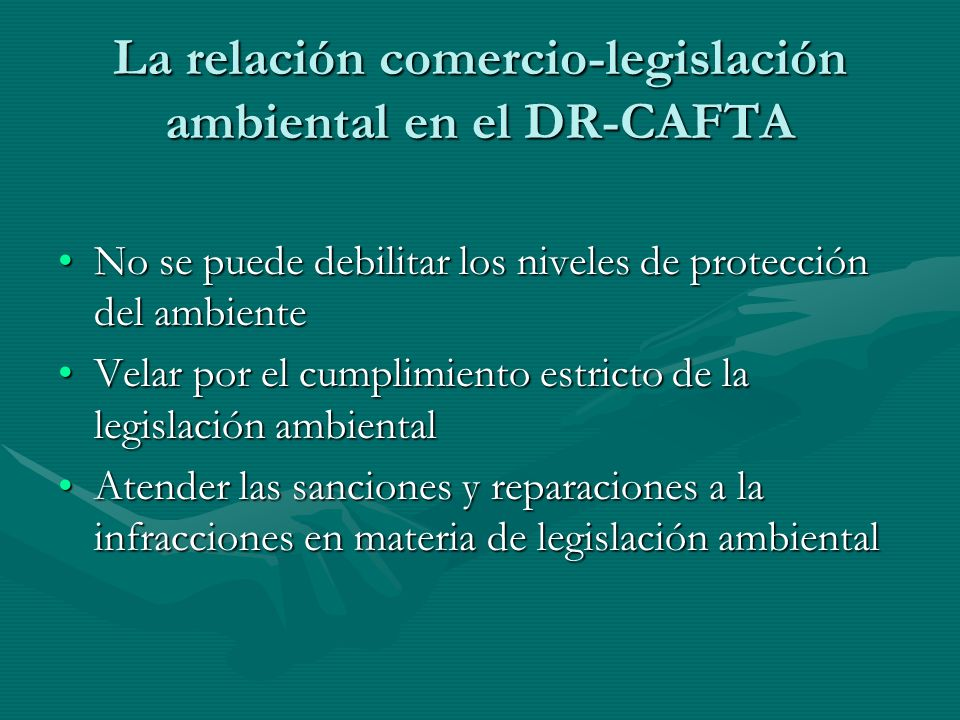 La relación comercio-legislación ambiental en el DR-CAFTA