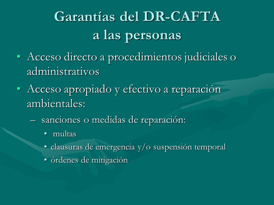 Garantías del DR-CAFTA a las personas