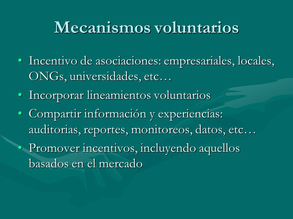 Mecanismos voluntarios